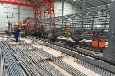 Prezioa onena soldatutako alanbre sareta roll makina, Kaiola seam welder diametroa 500-2000mm indartzea